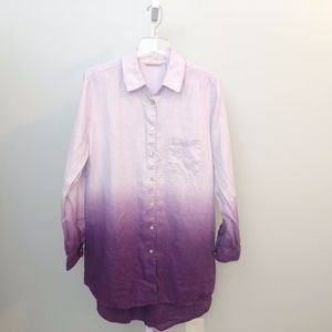 Soft Surroundings  Large  Linen Ombre Shirt